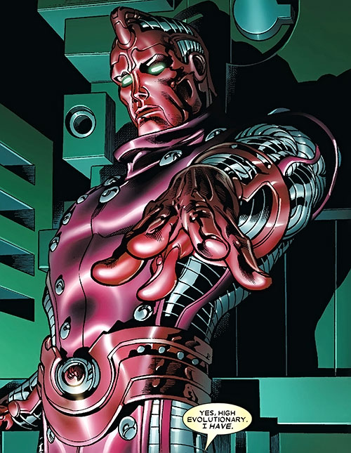 High Evolutionary (Marvel Comics) posing dramatically