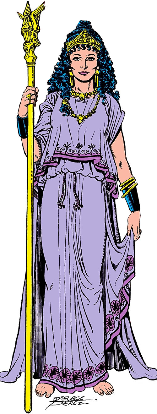 Hippolyte aka Hippolyta (DC Comics) - Wonder Woman queen - George Perez art in the 1980s Who's Who
