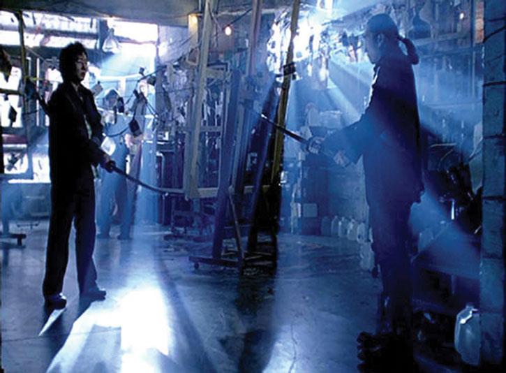 Hiro Nakamura (Masi Oka) faces a swordsman