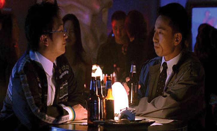 Hiro Nakamura (Masi Oka) having beers with a Japanese man