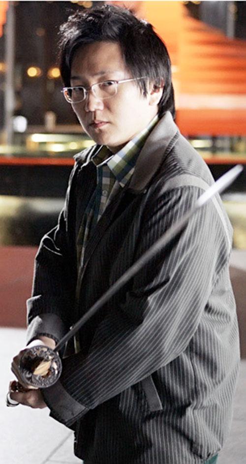 Hiro Nakamura (Masi Oka in Heroes) with his katana