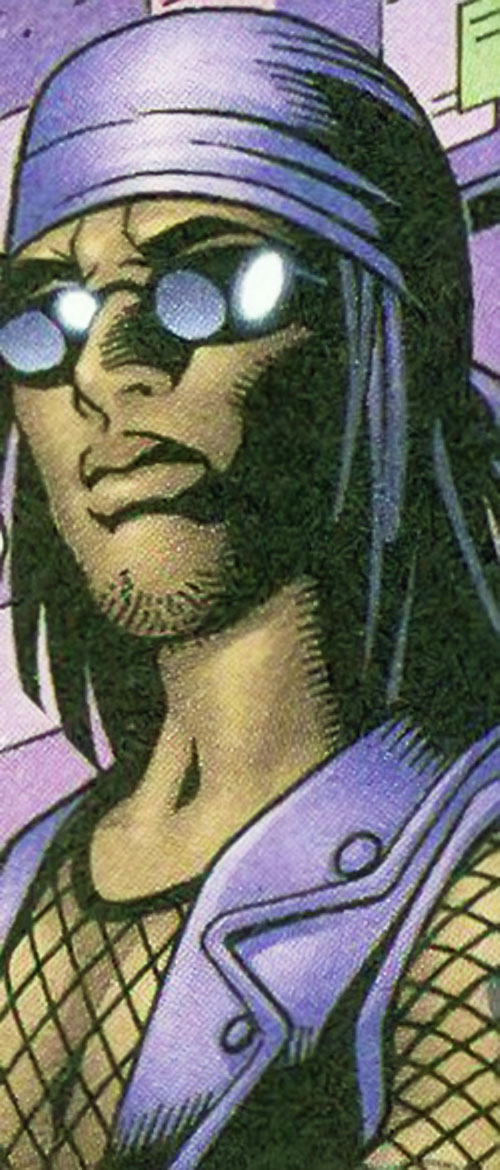Hollowpoint Ninja of the Livewires (Marvel Comics) face closeup with shades and bandanna