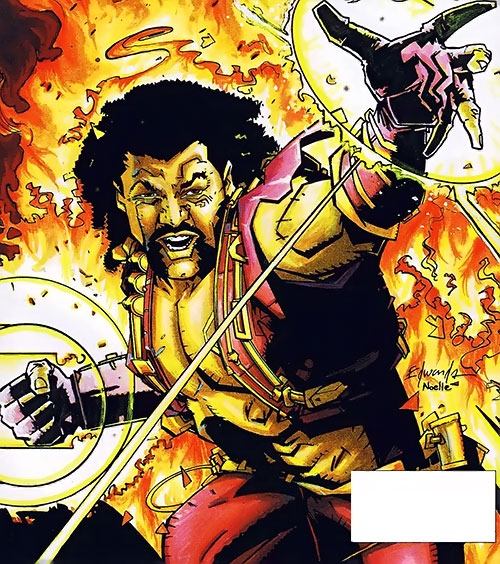 Holocaust (Blood Syndicate character) (Milestone Comics) among the flames