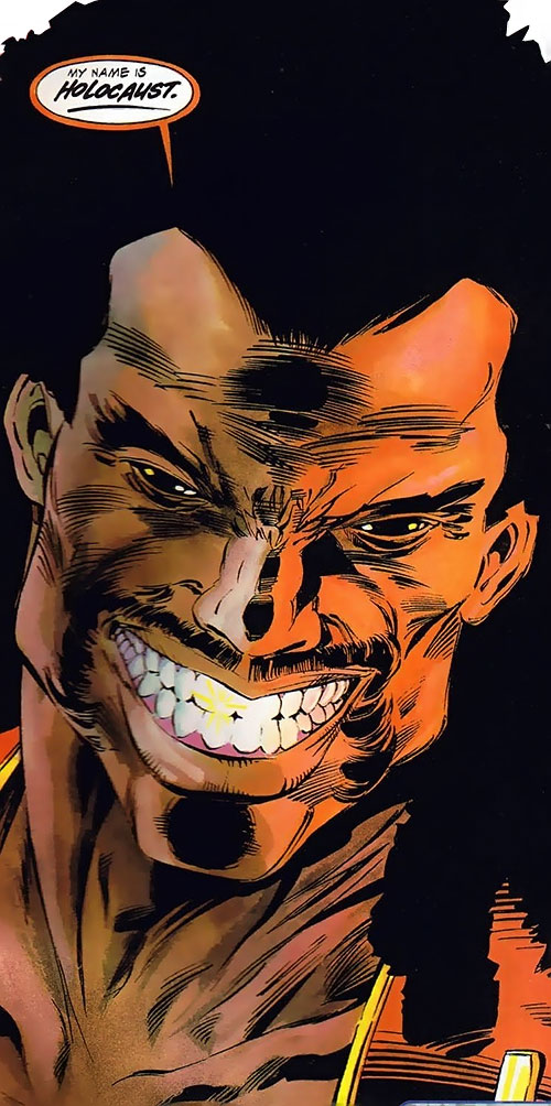 Holocaust (Blood Syndicate character) (Milestone Comics) face closeup