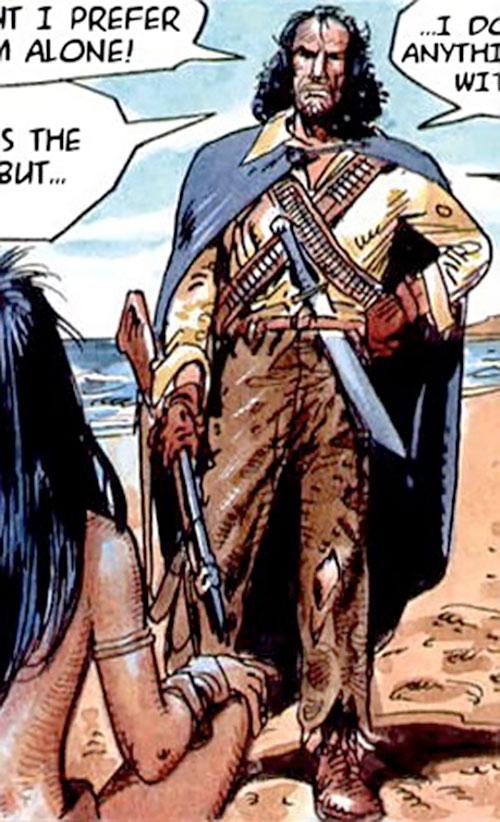 Hombre (Segura & Ortiz) with a machete and a cape