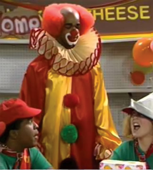 Homey D. Clown (Damon Wayans in In Living Colors) with kids with hats