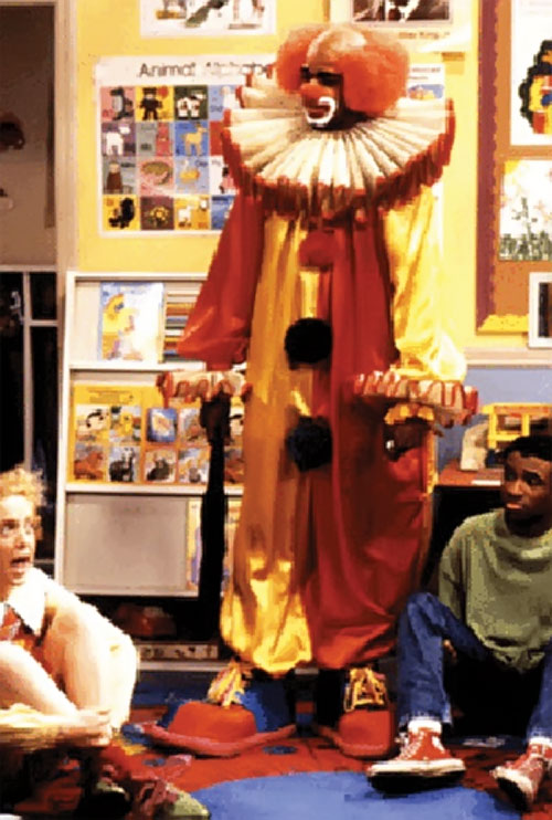 Homey D. Clown (Damon Wayans in In Living Colors) with kids in a school