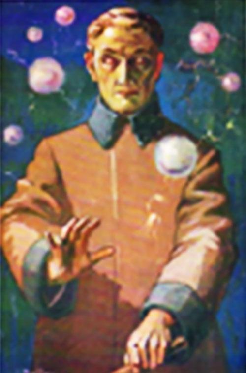 L'Homme Truqué de Maurice Renard (détail d'une vieille couverture)