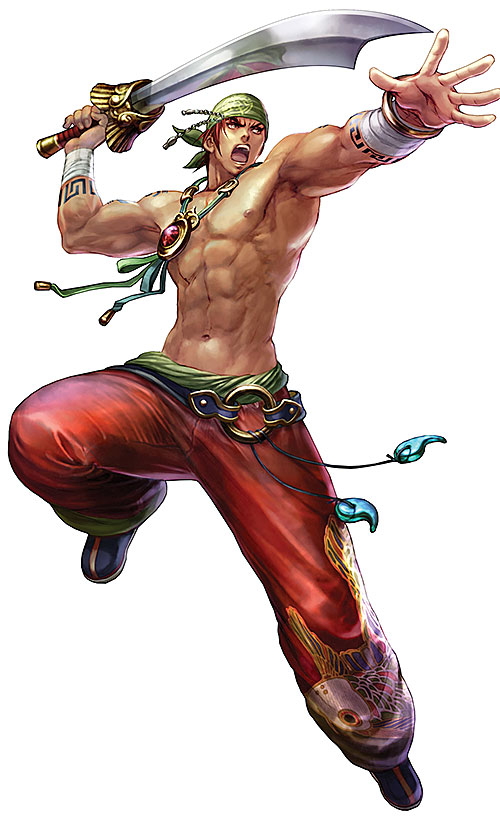 Hong Yun Seong Yunsung (Soul Calibur) bare-chested