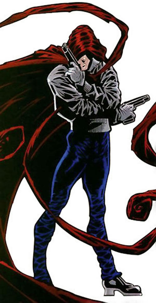 Hood (Parker Robbins) (Marvel Comics) looking mysterious