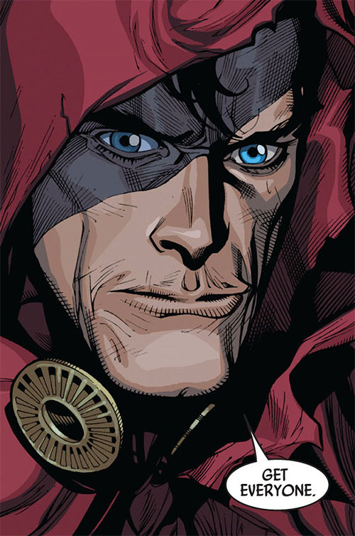 Hood (Parker Robbins) (Marvel Comics) face closeup