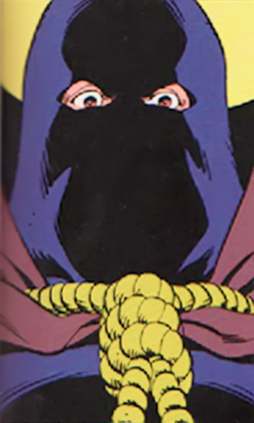 Hooded Justice of the Minutemen (Alan Moore Watchmen comics) closeup