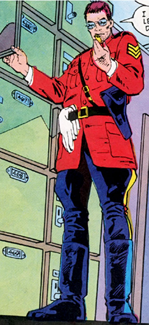 The Horseman (DC COmics) (Green Arrow ally) in his RCMP uniform
