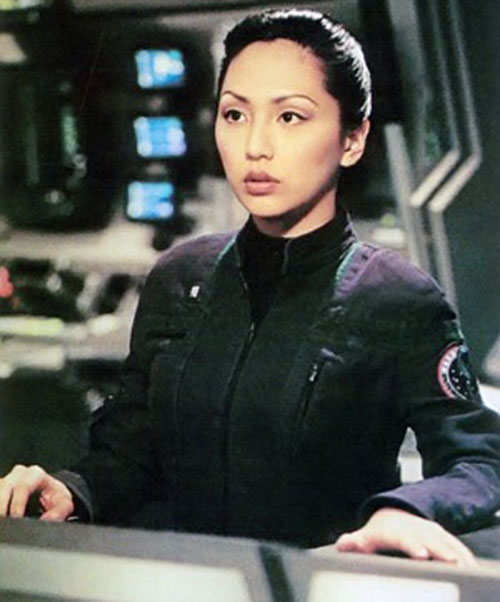 Hoshi Sato (Linda Park in Star Trek Enterprise) working