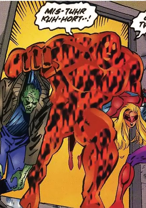 Hot Rox (Ultraverse Malibu Comics) carrying two Exiles