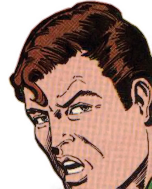 Hourman (Rick Tyler) angry face closeup