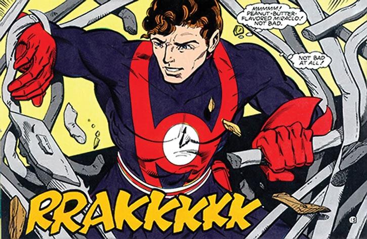 Hourman (Rick Tyler) destroys prison bars