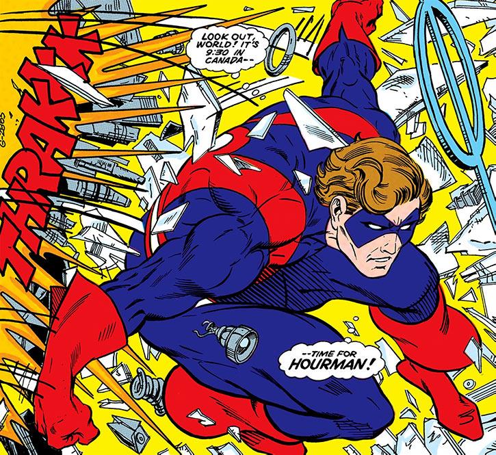 Hourman (Rick Tyler) - DC Comics - Infinity, Inc - Canada splash