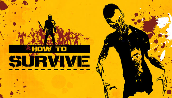 Nina in the How To Survive video game, yellow screen and zombie