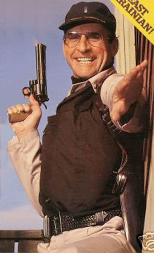 Lieutenant Howard Hunter (James Sikking in Hill Street Blues) with his revolver