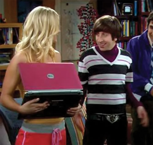 Howard Wolowitz (Simon Helberg in Big Bang Theory) and Penny
