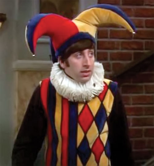 Howard Wolowitz (Simon Helberg in Big Bang Theory) as a medieval jester
