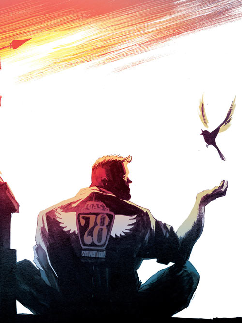 Huck (Image Comics) (Mark Millar) with a bird