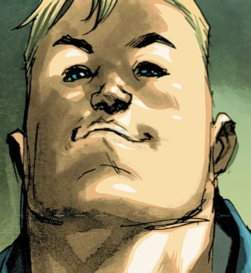 Huck (Image Comics) (Mark Millar) face closeup low angle