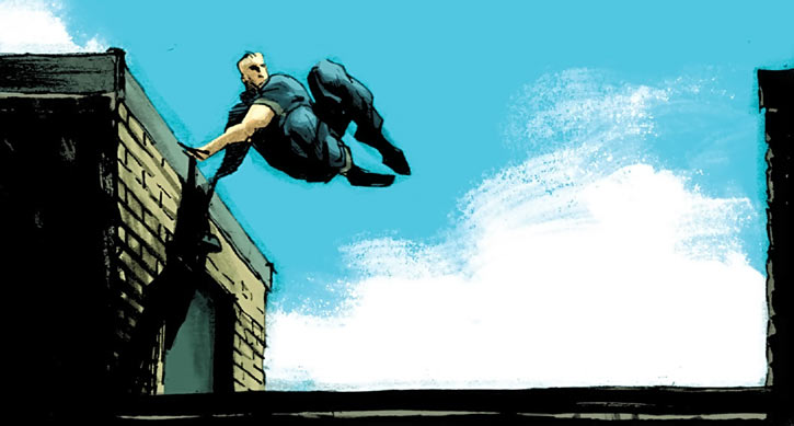Huck (Image Comics) (Mark Millar) on the rooftop express