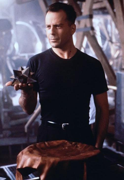 Hudson Hawk (Bruce Willis) during a heist
