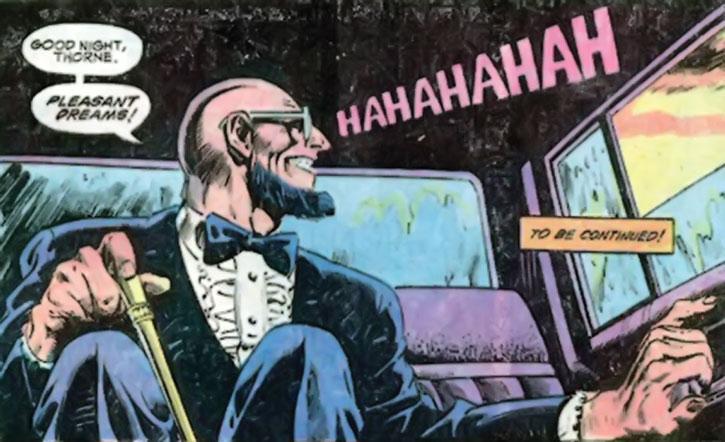 Hugo Strange in a limousine