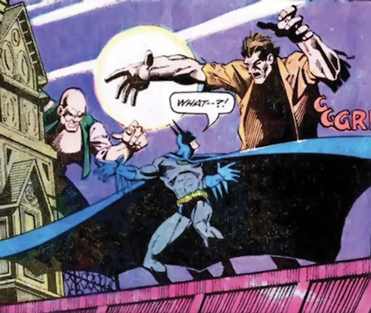 Hugo Strange's giants attack Batman