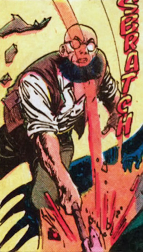 Hugo Strange (Batman enemy) (DC Comics) swinging an axe