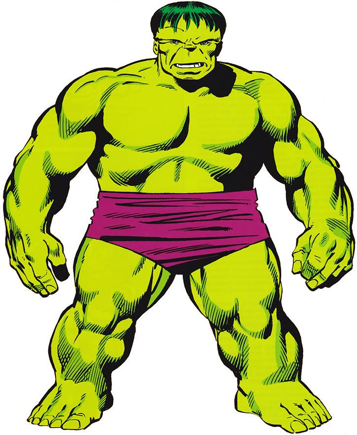 Hulk (Marvel Comics iconic) mid-1980s handbook art