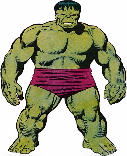 Hulk (Marvel Comics iconic) 1986 handbook art