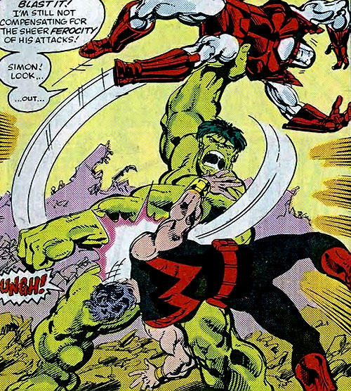Hulk (Marvel Comics iconic) vs. Wonder Man and Iron Man