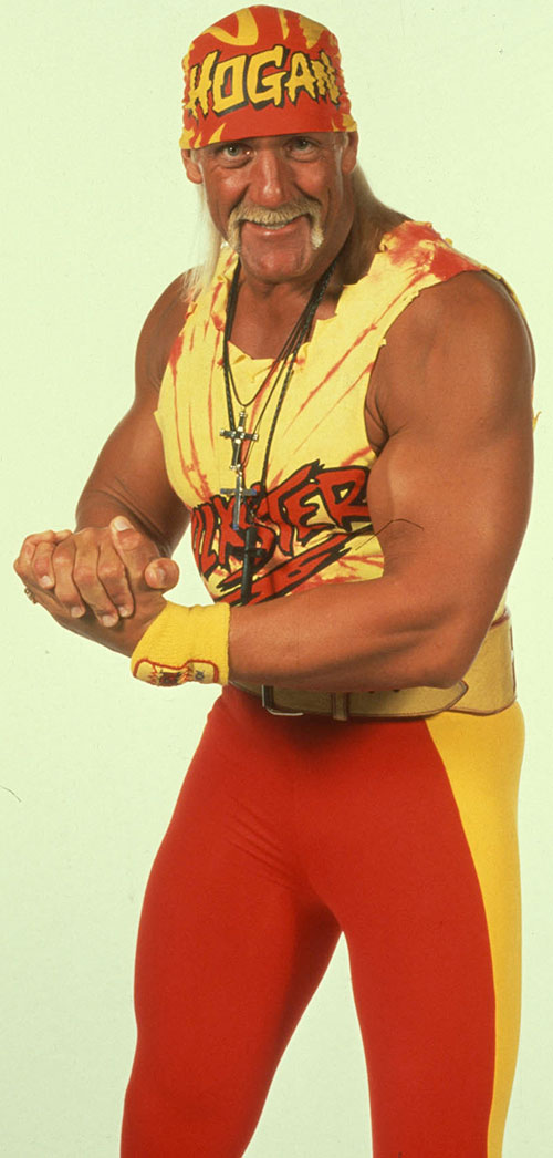 Hulk Hogan in yellow and red