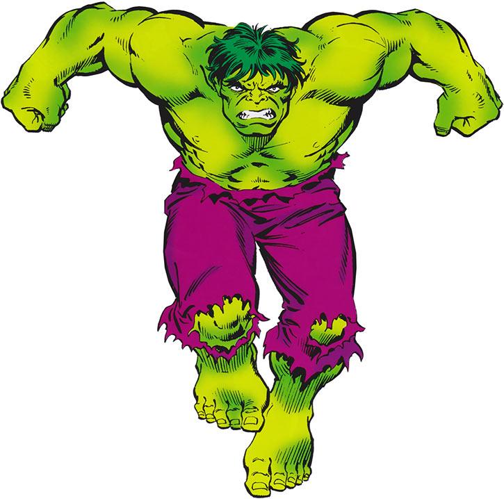 Hulk (Marvel Comics iconic) 1980s Deluxe handbook cover art