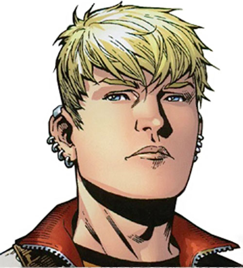 Hulkling of the Young Avengers (Marvel Comics) face closeup