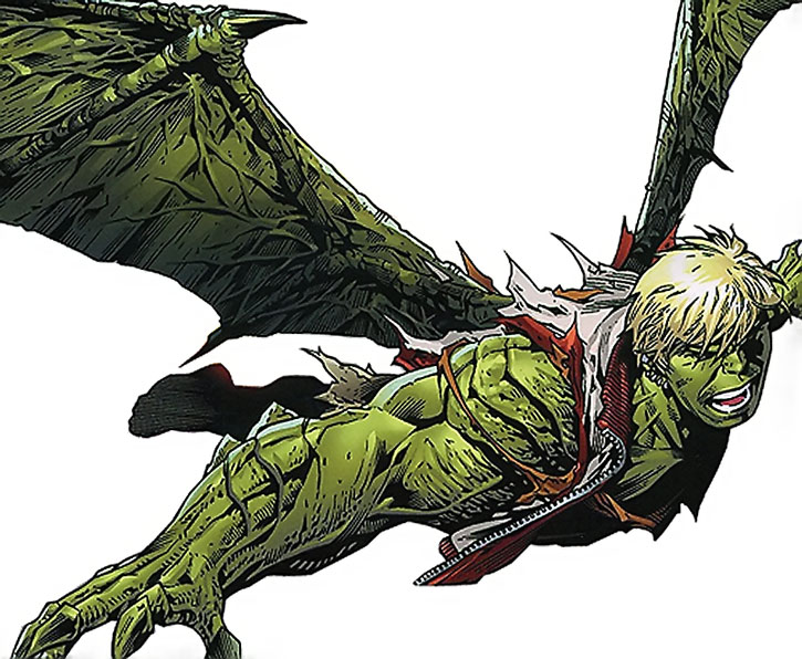 Hulkling (Teddy Altman) flying with wings