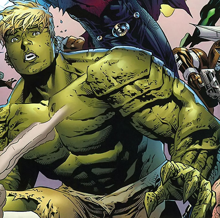 Hulkling (Teddy Altman) during a battle