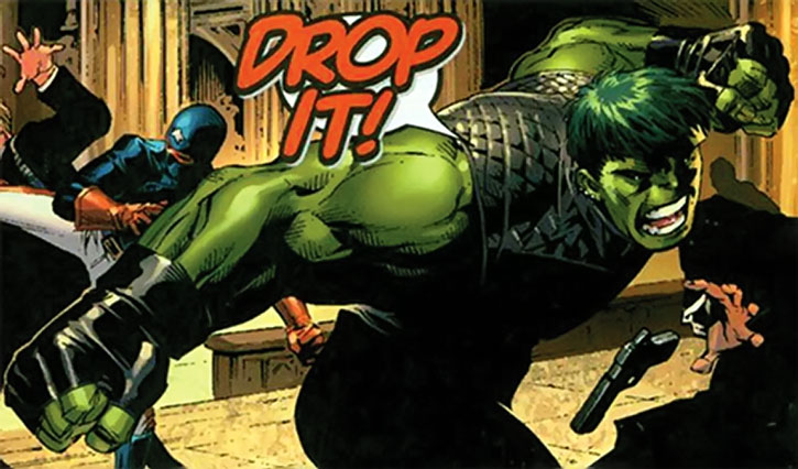 Hulkling (Teddy Altman) vs. gunmen