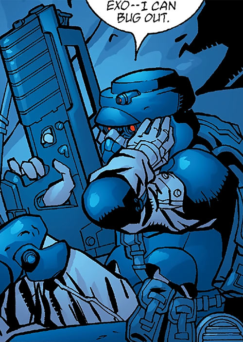 Human Defense Corps (DC Comics) exo suit