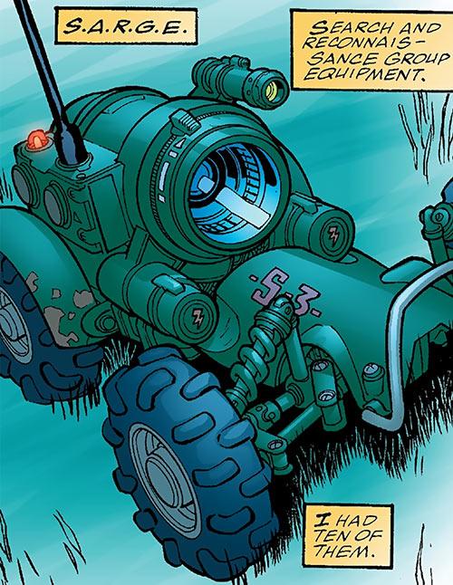 Human Defense Corps (DC Comics) SARGE remote unit