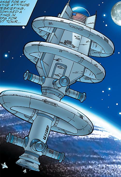 Human Defense Corps (DC Comics) Olympus orbital station satellite