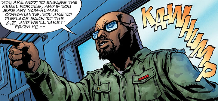 Colonel Skynner of the Human Defense Corps (DC Comics)