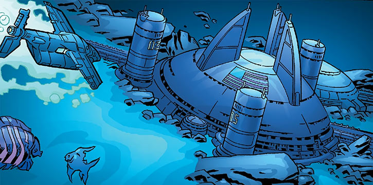 Area 53, the Human Defense Corps' underwater lab
