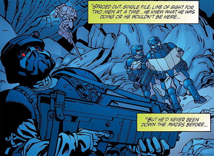 Human Defense Corps soldiers deploy underground (DC Comics)