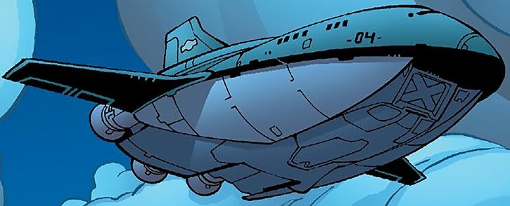 Heavy transport ship of the Human Defense Corps (DC Comics)