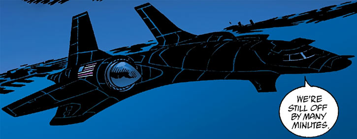 The Station Midnight special-purpose occult plane (DC Comics) (Human Defense Corps)
